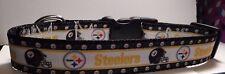 Handmade Pittsburgh Steelers  Nylon Dog Collar