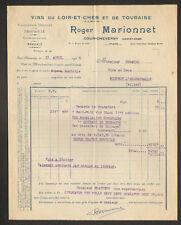 """COUR-CHEVERNY (41) VINS du LOIR-et-CHER & de TOURRAINE """"Roger MARIONNET"""" en 1946"""