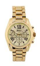 Wholesale Twelve  Geneva Yellow Gold or Silver Tone Classic Men's Watch.