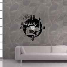 Wandtattoo Uhr Wanduhr KARLSSON Skyline Berlin Stadt capital germany clock +298+