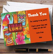 Orange Hawaiian Tropical Luau Personalised Party Thank You Cards