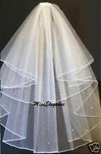 Bridal Veil Wedding Veil Communion veil 2 T Pencil Edge Veil Shoulder, Elbow
