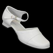 Blockabsatz Damen Pumps Ballerinas 236 Weiss Sandale Sandaletten Brautschuhe ba565142db