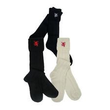W. Brewin Mens Scottish Lion Rampant Embroidered Kilt Hose/Socks   Made In US