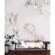 Weiß Vintage Blumen kunst Vlies Fototapete Leinwand Textur Wandmalerei