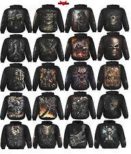 Espiral directo Grim reaper/steam punk/gothic/biker / Oscuro wear/hood Sudadera