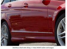 Mercedes W204 C Classe Berline Break Wagon Acier Inoxydable Chrome Porte Aile Trims