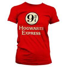 Official Women's Harry Potter Hogwarts Express Platform 9 3/4 Fitted T-Shirt