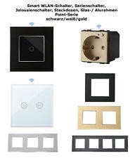 POINT Wifi WLAN Touch Lichtschalter Rolladenschalter Glas Alu Blenden Farben