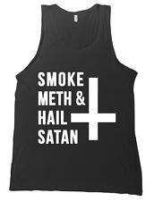 Smoke Meth and Hail Satan Bella + Canvas Tank Top Shirt - MANY COLORS