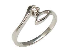 Anello di fidanzamento Solitario in oro bianco 18 kt da donna con diamante