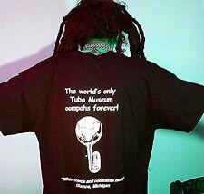 Travelers Club Restaurant and Tuba Museum T-Shirt - BLACK