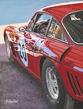 Ferrari 330 LMB Le Mans Goodwood Motor Racing Sport Painting Art Print