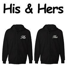 Valentine's Day Couples Gift set HIS & HERS Zipper Hoodie Sweatshirt Jackets set