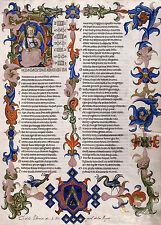 """Dante Alighieri Illumination : """"Divine Comedy"""" (1300s) — Giclee Fine Art Print"""