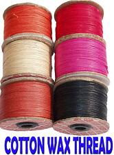 10mtr De Colores De Cera de algodón cable rebordear Fino Hilo
