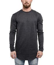 Phoenix Oversized Long-Sleeved T-Shirt Charcoal Longshirt Men's Sweater