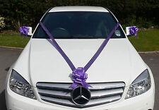 CADBURY PURPLE Wedding Car Decoration Kit Large Bows & 7m Ribbon FAST & FREEPOST