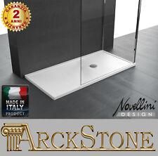 ARCKSTONE Piatto Doccia Sottile Slim Bagno Novellini Olympic Plus Bianco H4,5 cm