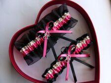 NEW Hot Pink Ivory Black Wedding Garter SELECT SingleSetRegPlus Size