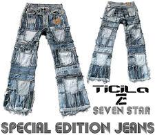 Ticila SEVEN STAR REBEL Special Edition Rocker Biker Rockstar Vintage Blue JEANS