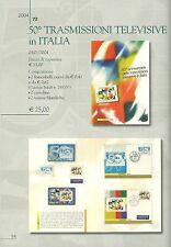 ITALIA FOLDER UFFICIALE TRASMISSIONI TELEVISIVE IN ITALIA ANNO 2004  MOLTO RARO