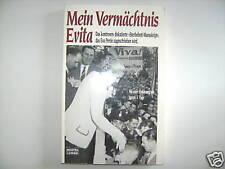MEIN VERMÄCHTNIS EVITA PERON STERBEBETT-MANUSKRIPT