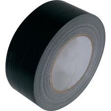 "BLACK STRONG DUCK DUCT GAFFER GAFFA WATERPROOF CLOTH TAPE ROLLS 2"" 50MM X 50M"