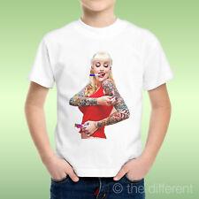 T-Shirt bébé Garçon Fille Tatouage Robe Rouge tatouage Idée Cadeau