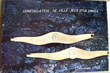 Catalogo Orologi Omega 1968 - Constellation De Ville Jeux D' Or  OMEGA - RARO!!