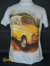T-shirt 500 Cinquecento maglia simpatica  IDEA REGALO maglietta ITALIA giallo