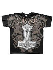 Gothic Metal Wikinger Viking Valhalla Walhalla Thor´s Hammer T-Shirt L XL XXL