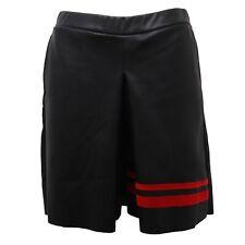 C4280 bermuda donna SHIKI pantalone corto nero eco pelle short woman