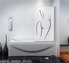 NAKED WOMAN STICKER Waterproof Shower Screen Sticker Bathroom Wall Stickers N137