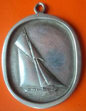 HEAVY Attractive Britannia Silver Sailing Boat / Yacht  Pendant  - 16 grammes