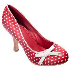 Dancing Days High Heel Pumps - String Of Pearl Polka Dot Vintage Retro Rot