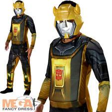 Bumblebee Transformers Mens Fancy Dress Robot Superhero Movie Adults Costume New
