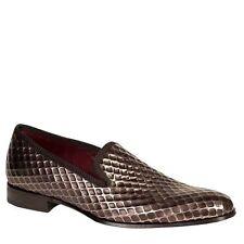 Mezlan Hilbert Men's Embossed Calf Grey Leather Dress Loafers 6694