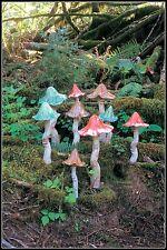 Ceramic Tippy Toadstools/Mushrooms on Spring Garden Decor-Small