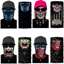 Racing Face UV Shield Mask Fishing Headwear Biker Neck Tube Scarf Skull Head 1pc