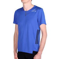 adidas adizero Shortsleeve Tee M Blue Herren Laufshirt T-Shirt Kurzarm Blau