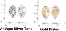 Leaf Pendants Charms Bohemian Metal Findings 16mm x 10mm Hole 1mm