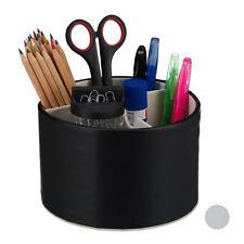 Stiftehalter rund Lederoptik Tischorganizer Stifteköcher Stiftebox Büroorganizer