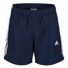 Adidas Essentials 3 Stripe Chelsea Shorts Gym Fitness Running Marine Urlaub