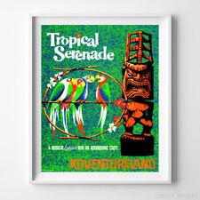 Disneyland Poster Tropical Serenade Attraction Disney World Art NO FRAME