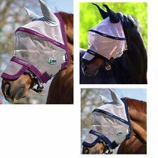 HORSEWARE Rambo Fliegenmaske Plus Vamoose mit Ohren Fliegenschutz Nüsternschutz