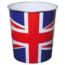 JVL Novelty British Union Jack Flag Plastic Waste Paper Bin - 25 x 26.5 cm