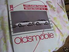 1991 OLDSMOBILE CUTLASS SUPREME VOL 2  SERVICE MANUAL