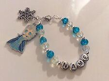 Frozen Elsa Bracelet Necklace Personalised Bookmark Keyring Earrings Charm