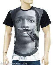 ELEVEN PARIS moustache ASAP ROCKY Tee shirt homme noir 14F1LT144 Morki Black